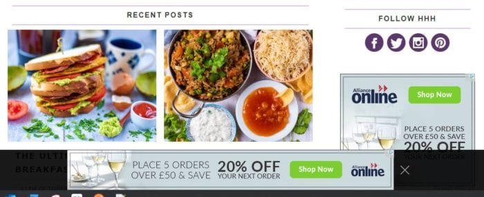 Display advertising - affiliate marketing example