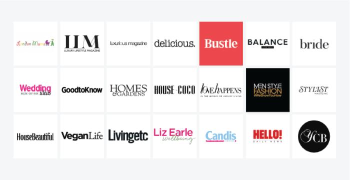Glass Digital - Where We Built Links 2020 - lifestyle magazine logos