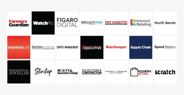 Glass Digital - Where We Built Links 2020 - business publication logos