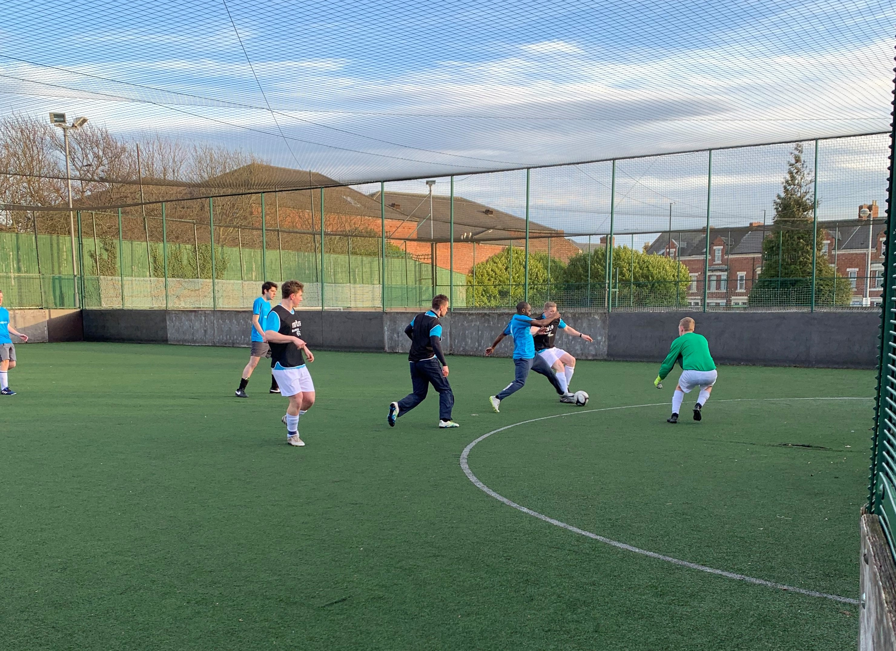 Glass Digital playing football at Business Fives