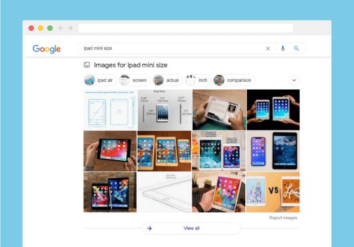 iPad Mini size - image results on google
